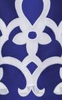 Royal Tea Length Floral A-Line Skirt by Ostwald Helgason for Preorder on Moda Operandi