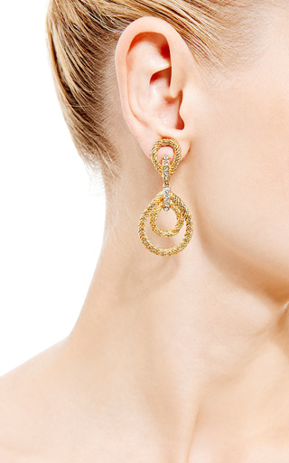 House of Lavande - Christian Dior Gold Rope Clip On Earrings