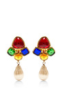 1980S Chanel  Multicolor Clip On Earrings by House of Lavande for Preorder on Moda Operandi