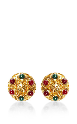1990S Chanel Gold Clip On Earrings by House of Lavande for Preorder on Moda Operandi