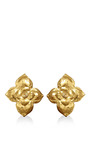1980S Ysl Large Floral Clip On Earrings by House of Lavande for Preorder on Moda Operandi