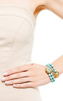 Miriam Haskell Turquoise Wrap Bracelet by HOUSE OF LAVANDE for Preorder on Moda Operandi