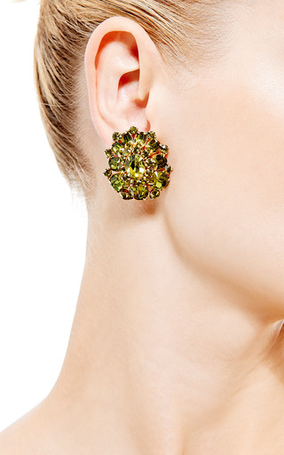 1950S Schreiner Cluster Clip On Earrings by House of Lavande for Preorder on Moda Operandi