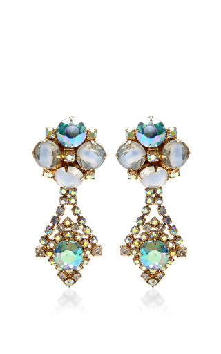 1950S Hobe Gold Drop Earrings by House of Lavande for Preorder on Moda Operandi
