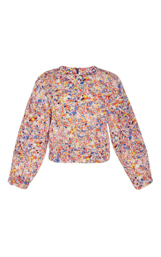 Roksanda Pink Print Eltham Top by ROKSANDA for Preorder on Moda Operandi