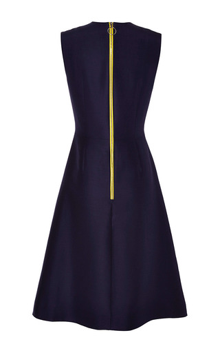 Navy Oakes Dress by Roksanda Ilincic for Preorder on Moda Operandi
