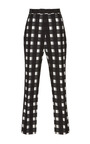 Black White Check Cigarette Cropped Pants by Martin Grant Now Available on Moda Operandi