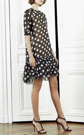 Dots Black Ivory Baby Doll Polka Dot Dress by Martin Grant Now Available on Moda Operandi
