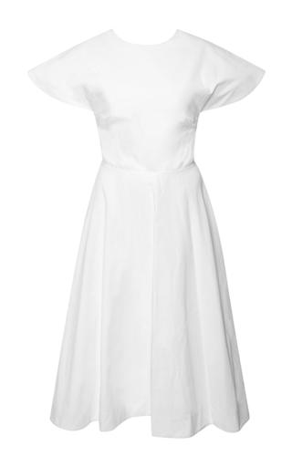 Buttercup open-back cotton-poplin dress by ROSIE ASSOULIN Now Available on Moda Operandi