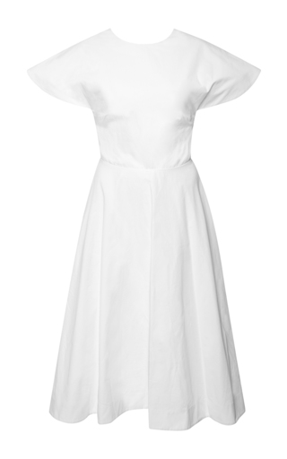 Buttercup open-back cotton-poplin dress by ROSIE ASSOULIN Now Available on Moda Operandi