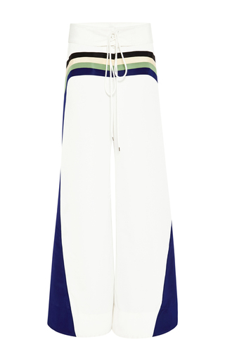 Surf color-block wide-leg pants by ROSIE ASSOULIN Available Now on Moda Operandi