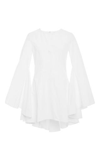 Drape-back cotton-poplin top by ROSIE ASSOULIN Available Now on Moda Operandi