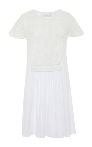 Knit and cotton-poplin dress by THAKOON ADDITION Now Available on Moda Operandi