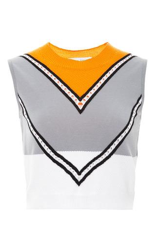 Chevron nick knit top by TANYA TAYLOR Preorder Now on Moda Operandi