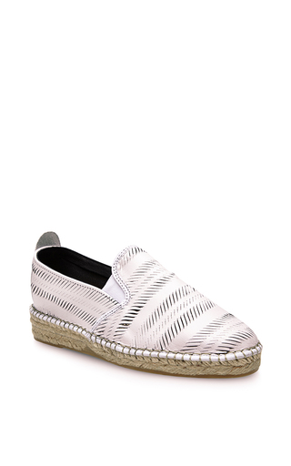 Churu lam espadrilles in white by PRISM Now Available on Moda Operandi