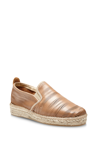 Churu lam espadrilles in brown by PRISM Now Available on Moda Operandi