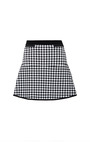 Black And White Gingham Flared Skirt by Timo Weiland for Preorder on Moda Operandi