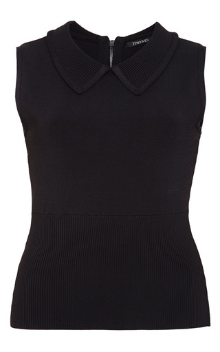 Black caitlin top by TIMO WEILAND Preorder Now on Moda Operandi