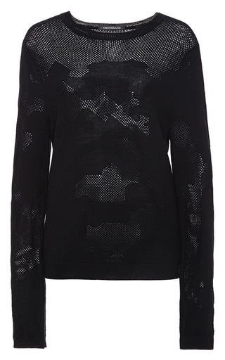 Black victoria sweater by TIMO WEILAND Preorder Now on Moda Operandi