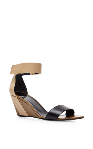 Color-block leather wedge sandals by PIERRE HARDY Available Now on Moda Operandi
