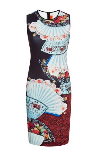 Fan foulard printed neoprene dress by CLOVER CANYON Available Now on Moda Operandi
