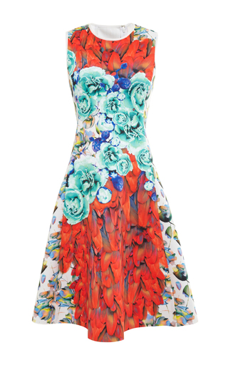 Rio de janeiro printed neoprene dress by CLOVER CANYON Available Now on Moda Operandi