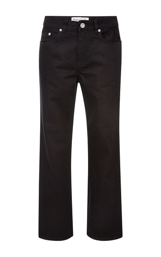 Chevron Pocket Cropped Jeans by ÊTRE CéCILE Now Available on Moda Operandi