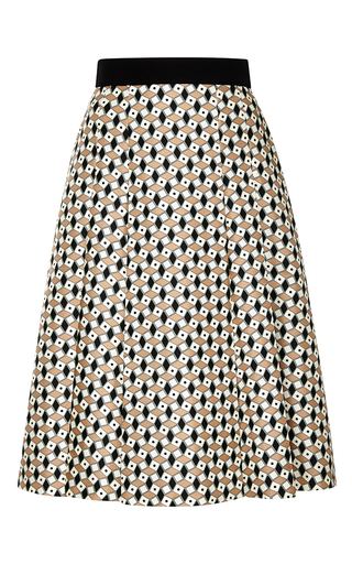 Printed silk-twill skirt by FAUSTO PUGLISI Now Available on Moda Operandi