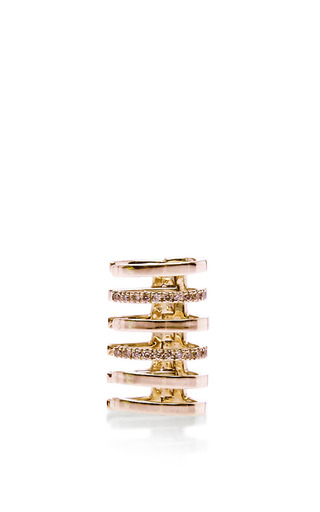 Cartilage amour ear cuff in pink gold by ELISE DRAY for Preorder on Moda Operandi