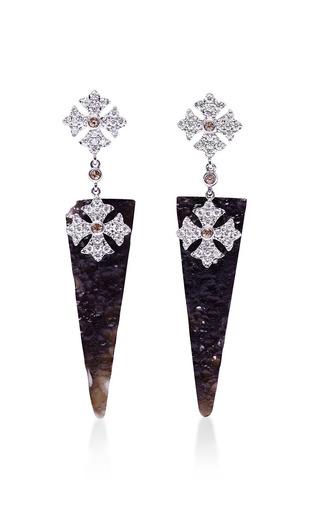 Meteorite earrings by ELISE DRAY for Preorder on Moda Operandi