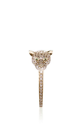 Tiger earring by ELISE DRAY for Preorder on Moda Operandi
