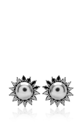 Mother of pearl earrings by ELISE DRAY Preorder Now on Moda Operandi