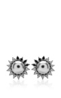 Mother Of Pearl Earrings by Elise Dray for Preorder on Moda Operandi