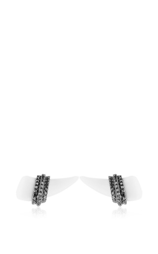 Mini horn earrings by ELISE DRAY for Preorder on Moda Operandi