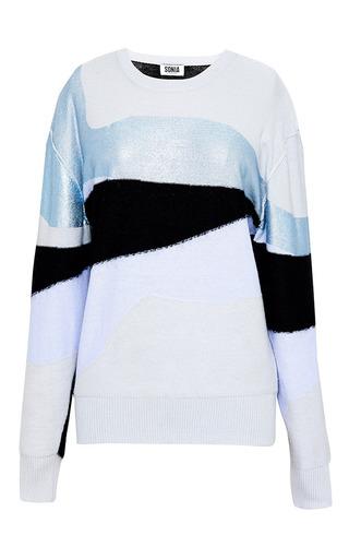 Light wool intarsia needle punch print sweater by SONIA BY SONIA RYKIEL Preorder Now on Moda Operandi