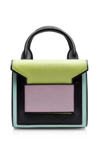 Color-block leather satchel by PIERRE HARDY Preorder Now on Moda Operandi