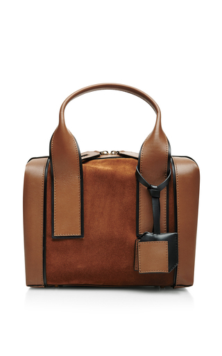 Leather and suede tote by PIERRE HARDY Available Now on Moda Operandi