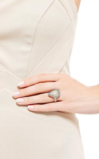 Nina Runsdorf - One Of A Kind Yellow Rough Pear Shape Diamond Ring