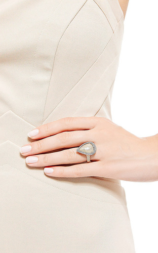 One Of A Kind Yellow Rough Pear Shape Diamond Ring by Nina Runsdorf for Preorder on Moda Operandi