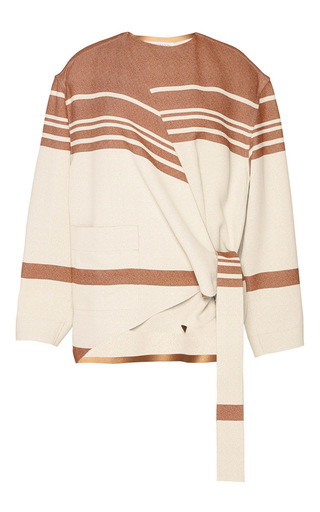 Striped Crepe Wrap Top by J.W. ANDERSON Now Available on Moda Operandi