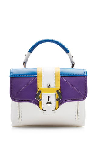 Mini color-blocked leather shoulder bag by PAULA CADEMARTORI Available Now on Moda Operandi
