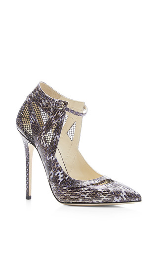 Ingrid snakeskin pumps by BRIAN ATWOOD Available Now on Moda Operandi