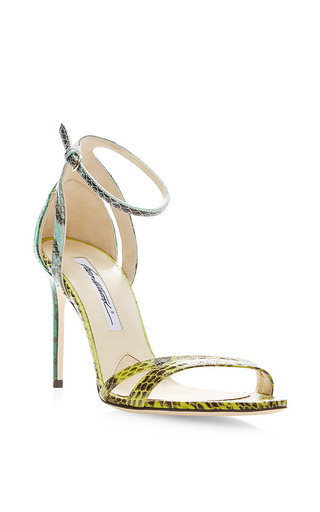 Cora snakeskin sandals by BRIAN ATWOOD Available Now on Moda Operandi