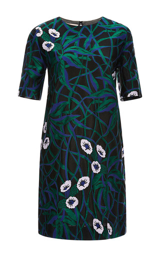 Jacquard and bonded jersey dress by MARNI Now Available on Moda Operandi
