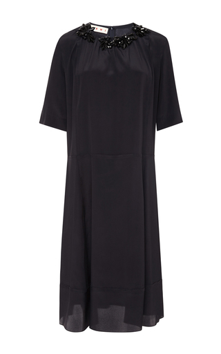 Embellished short sleeve dress by MARNI Now Available on Moda Operandi