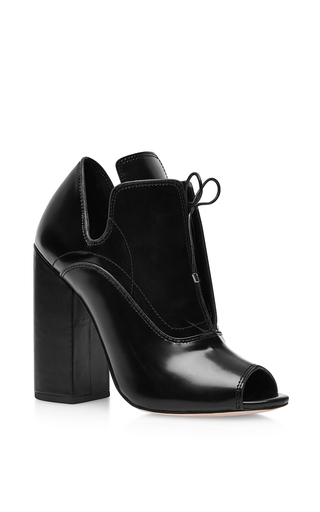 Boardwalk leather ankle boots in black by ELLERY Available Now on Moda Operandi