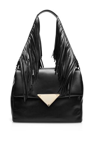 Teresa large fringed leather shoulder bag by SARA BATTAGLIA Available Now on Moda Operandi