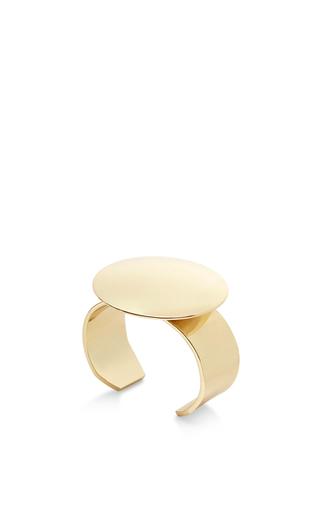 Tonne oversized mirrored circular cuff by FALLON Available Now on Moda Operandi