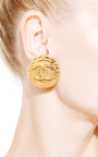 What Goes Around Comes Around - Vintage Chanel Large CC Clip Earrings From What Goes Around Comes Around