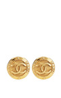Vintage Chanel Large CC Clip Earrings From What Goes Around Comes Around by What Goes Around Comes Around for Preorder on Moda Operandi